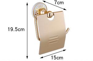 Elegantný držiak na toaletný papier v zlatej farbe 1 1 - Elegantný držiak na toaletný papier v zlatej farbe