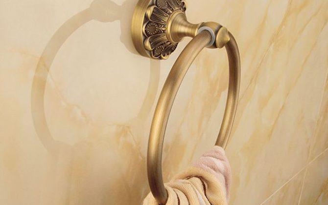 Elegantný staromosadzný vešiak na uterák v tvare kruhu. 1 670x420 - Elegantný staromosadzný vešiak na uterák v tvare kruhu