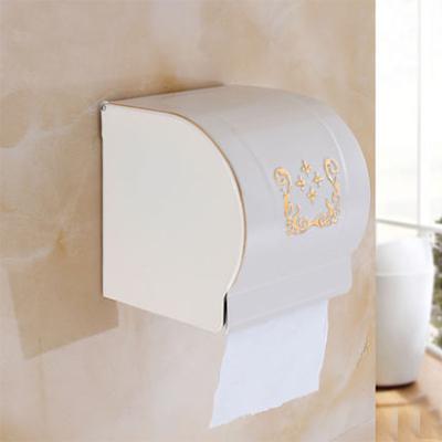 Elegantný stojan na toaletný papier v bielej farbe
