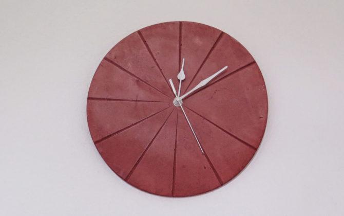Ručne vyrobené nástenné hodiny - Terracotta pureRučne vyrobené nástenné hodiny - Terracotta pure