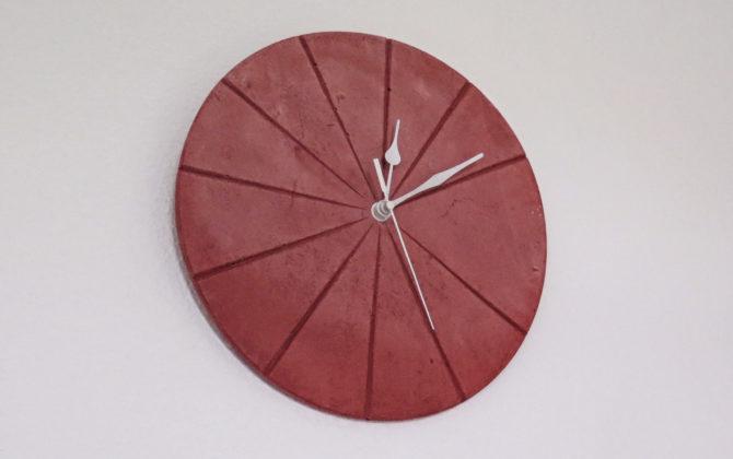 Ručne vyrobené nástenné hodiny - Terracotta pure