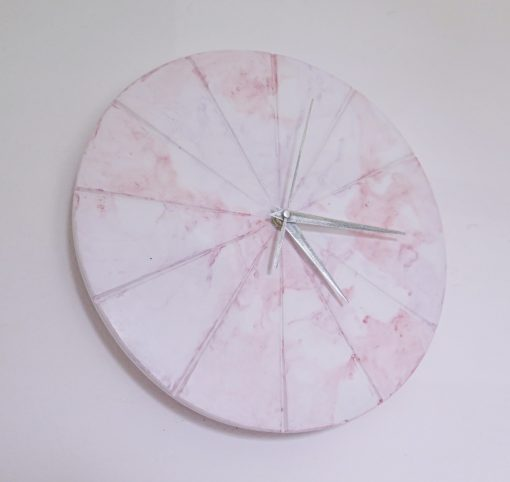 Ručne vyrobené nástenné hodiny - Pastel marble