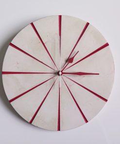 Ručne vyrobené nástenné hodiny - Red marble