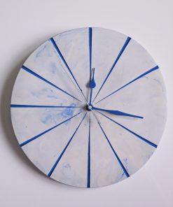 Ručne vyrobené nástenné hodiny - Blue marble