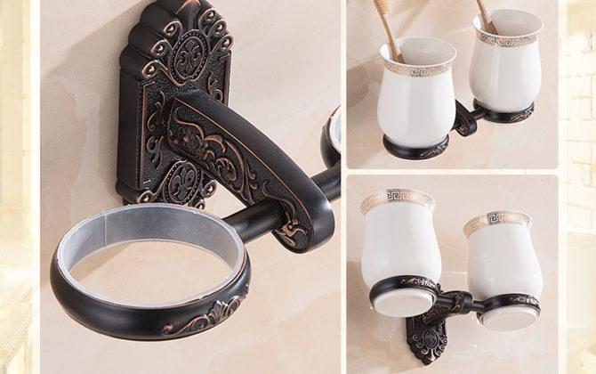Luxusný dvojitý stojan s pohárikmi na zubné kefky v čiernej farbe 1 1 670x420 - Luxusný dvojitý stojan s pohárikmi na zubné kefky v čiernej farbe