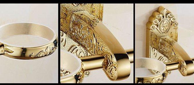 Luxusný dvojitý stojan s pohárikmi na zubné kefky v zlatej farbe  670x294 - Luxusný dvojitý stojan s pohárikmi na zubné kefky v zlatej farbe
