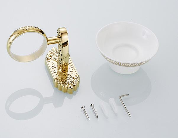 Luxusný nástenný držiak na mydlo v zlatej farbe držiak miska . - Luxusný nástenný držiak na mydlo v zlatej farbe, držiak + miska