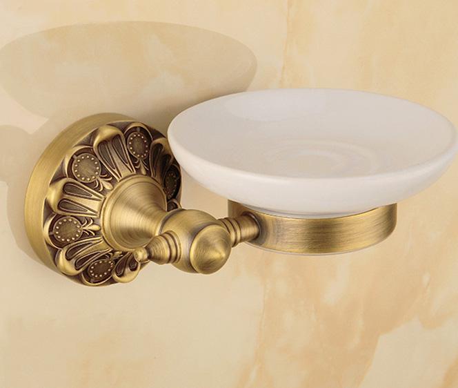 Luxusný staromosadzný stojan s miskou na mydlo .. - Luxusný staromosadzný stojan s miskou na mydlo