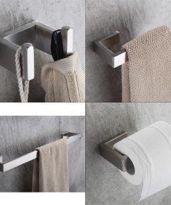 Moderný set do kúpeľne z nehrdzavejúcej ocele