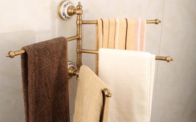 Staromosadzný otočný vešiak na uteráky . 1 670x420 - Staromosadzný otočný vešiak na uteráky