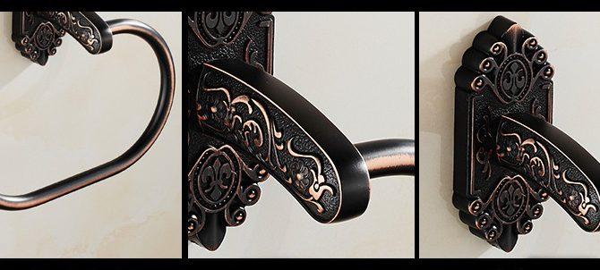 Starožitný prepracovaný držiak na uterák v čiernej farbe 1 2 670x302 - Starožitný prepracovaný držiak na uterák v čiernej farbe