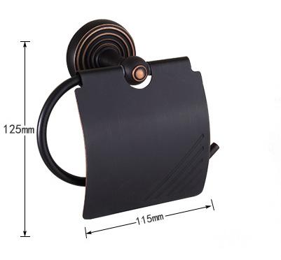 Vintage mosadzný držiak na toaletný papier v čiernej farbe 1 - Vintage mosadzný držiak na toaletný papier v čiernej farbe