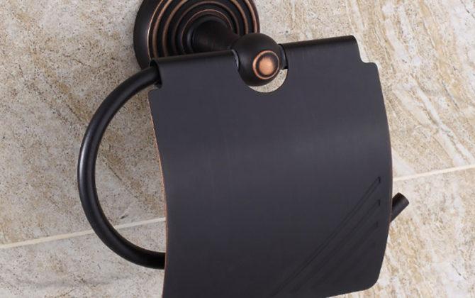 Vintage mosadzný držiak na toaletný papier v čiernej farbe 2 670x420 - Vintage mosadzný držiak na toaletný papier v čiernej farbe