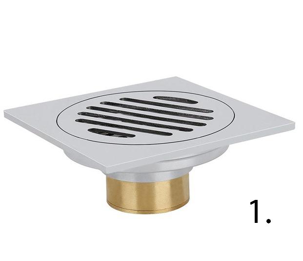 Elegantná podlahová vpusť do kúpeľne 1 - Elegantná podlahová vpusť do kúpeľne v rôznych prevedeniach