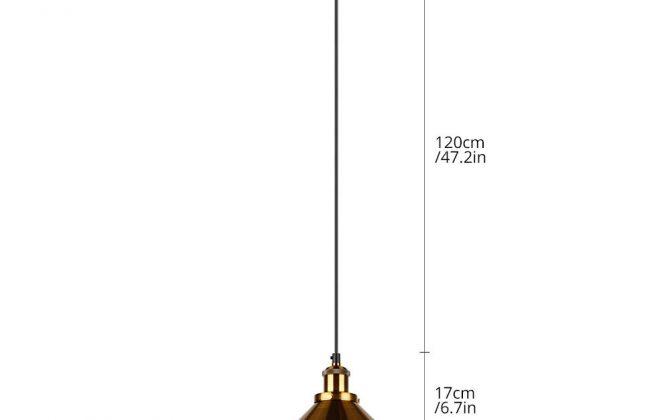Historické závesné svietidlo so zlatým tienidlom 220mm 1 670x420 - Historické závesné svietidlo so zlatým tienidlom, 220mm