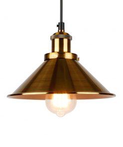 Historické závesné svietidlo so zlatým tienidlom, 220mm (2)