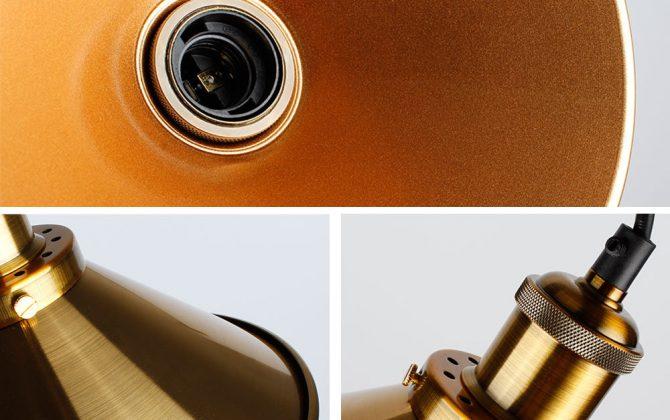 Historické závesné svietidlo so zlatým tienidlom 220mm 4 670x420 - Historické závesné svietidlo so zlatým tienidlom, 220mm