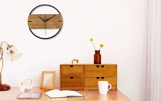 Jedinečné moderné drevené nástenné hodiny. 1 670x420 - Jedinečné moderné drevené nástenné hodiny