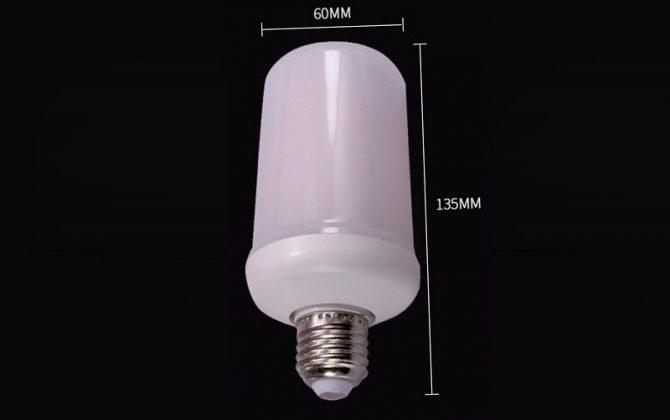 LED žiarovka s efektom plameňa E27 5W Teplá biela 1 670x420 - LED žiarovka s efektom plameňa, E27, 5W, Teplá biela