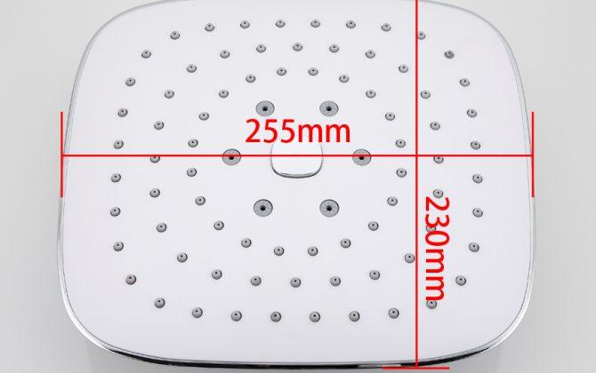 Kvalitná pochrómovaná hlavová sprcha - 26 x 23 cm