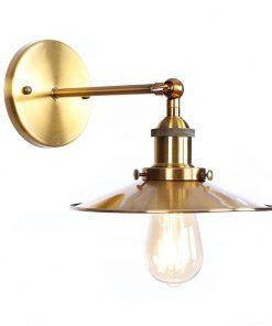 Historické nástenné svietidlo s tienidlom v bronzovej farbe