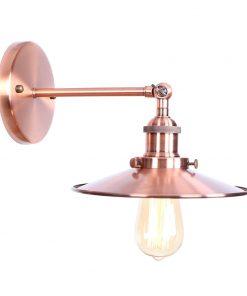 Historické nástenné svietidlo s tienidlom v medenej farbe (1)