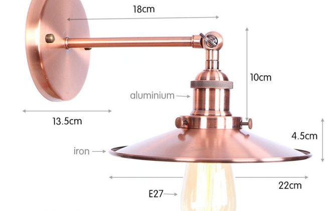 Historické nástenné svietidlo s tienidlom v medenej farbe 2 670x420 - Historické nástenné svietidlo s tienidlom v medenej farbe
