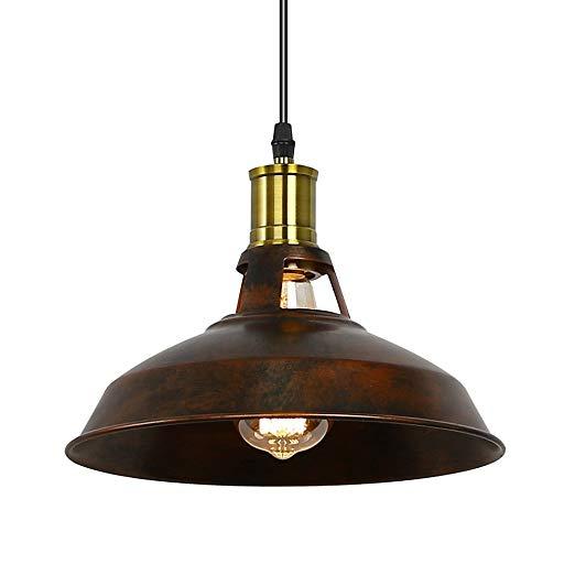 Retro závesné svietidlo Bar v hrdzavej farbe (3)