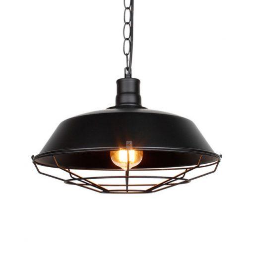 Retro závesné svietidlo Restaurant v čiernej farbe (1)
