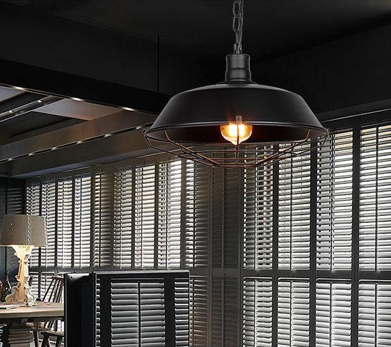 Retro závesné svietidlo Restaurant v čiernej farbe 2 - Retro závesné svietidlo Restaurant v čiernej farbe