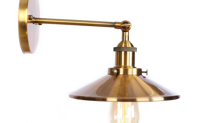 Zrkadlová Vintage nástenná lampa v bronzovej farbe 1 670x420 - Zrkadlová Vintage nástenná lampa v bronzovej farbe