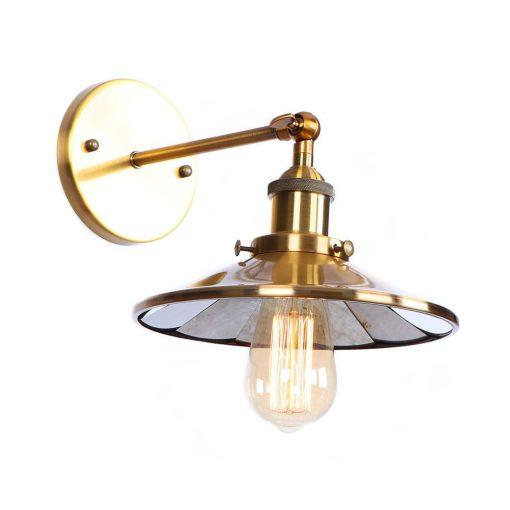 Zrkadlová Vintage nástenná lampa v bronzovej farbe