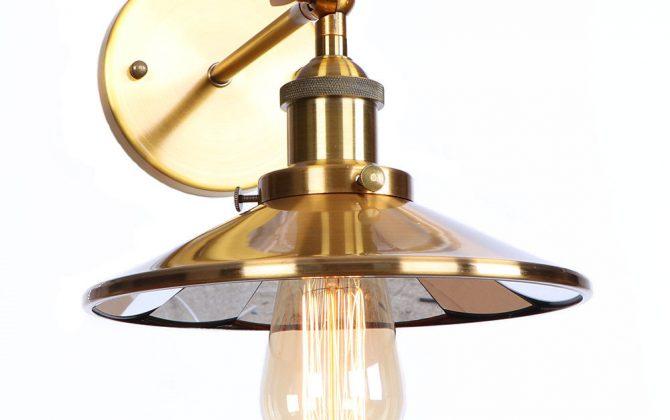 Zrkadlová Vintage nástenná lampa v bronzovej farbe 5 670x420 - Zrkadlová Vintage nástenná lampa v bronzovej farbe
