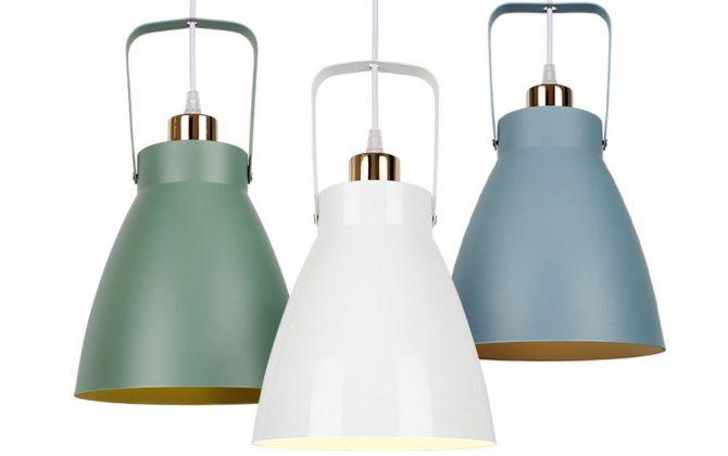Moderné svietidlá a trendy v osvetlení 670x420 - Závesné hliníkové svietidlo Multicolor v modrej farbe