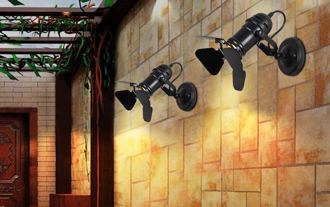 Nástenné a stropné svietidlo v štýle retro reflektora 2 670x420 - Nástenné a stropné svietidlo v štýle retro reflektora