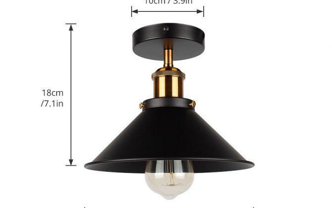 Stropné svietidlo historické s čiernym tienidlom nr 6 670x420 - Stropné svietidlo historické s čiernym tienidlom, nr.2