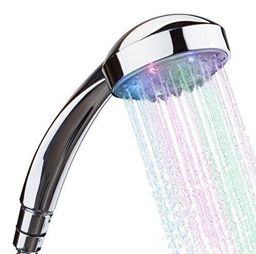 7x LED Automatická farebná sprchová hlavica je originálny doplnok do každej domácnosti. Hlavica svieti 7 farbami ktoré sa časovo menia a vytvárajú dojem farebnej dúhy - 7x LED Automatická farebná sprchová hlavica