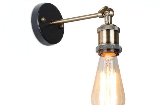 Historické nástenné svietidlo v staromosádznej farbe (1)