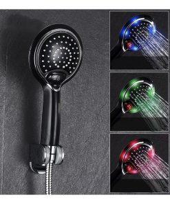 LED-Sprchová-hlavica-s-digitálnym-teplomerom-3-farby-čierna-farba