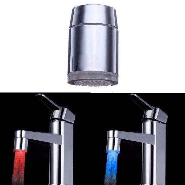 LED nástavec je fantastická ozdoba do Vašej kuchyne alebo kúpeľne 2 - LED nástavec – svietiaci vodovodný kohútik