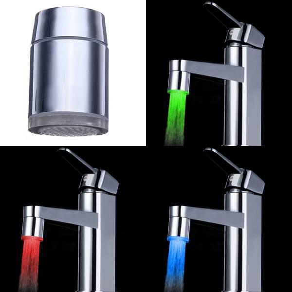 LED nástavec je fantastická ozdoba do Vašej kuchyne alebo kúpeľne 4 - LED nástavec – svietiaci vodovodný kohútik