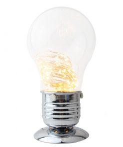 LED originálna stolová lampa v tvare žiarovky so stmievačom (2)