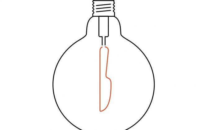 MASTERCHEF kuchynská žiarovka KNIFE, Teplá biela, 4W, 130lm