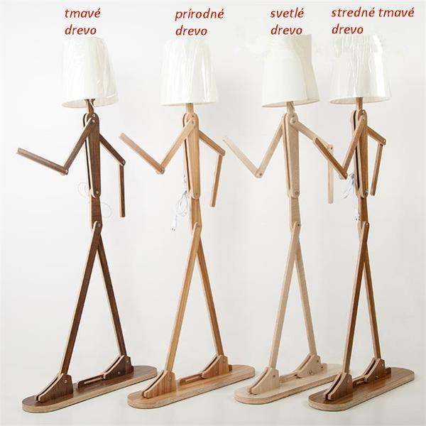 Tieto originálne drevené podlahové lampy sú vyrobené na mieru a pozostávajú z jednotlivých súčastí ktoré je potrebné zložiť 1 - Kreatívne drevené podlahové svietidlo, polohovateľné, 160cm, svetlé drevo
