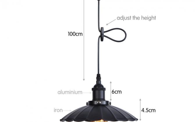 Dekoračné historické svietidlo s nastaviteľnou výškou kábla čierna farba 670x420 - Dekoračné historické svietidlo s nastaviteľnou výškou kábla, čierna farba