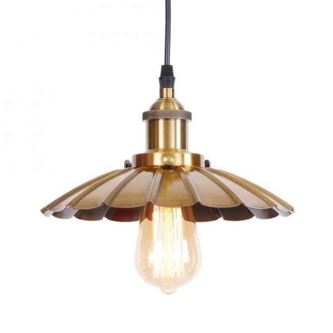 Dekoračné historické svietidlo s nastaviteľnou výškou kábla, zlatá farba (2)