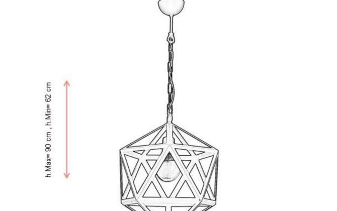 Kreatívne závesné svietidlo v tvare mnohouholníka 32cm 1 670x420 - Kreatívne závesné svietidlo PETRA v tvare mnohouholníka, 38cm, čierna farba