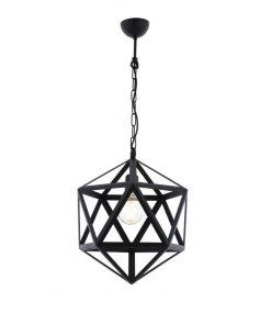 Kreatívne závesné svietidlo v tvare mnohouholníka, 32cm (2)