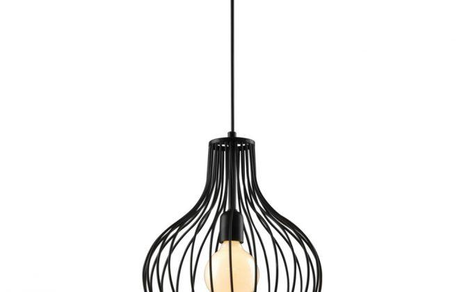 Moderné visiace svietidlo SERRA v čiernej farbe