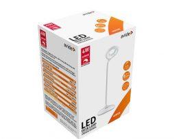 Elegantná stolová LED lampa s hladkými guľatými tvarmi v bielej farbe (2)